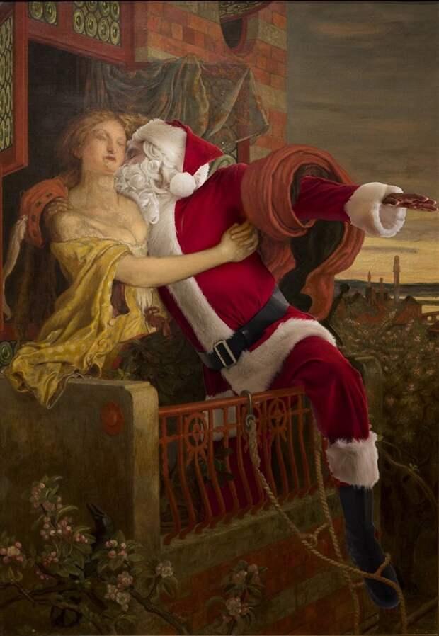 Новогоднее настроение на полотнах классиков от Эда Уилера