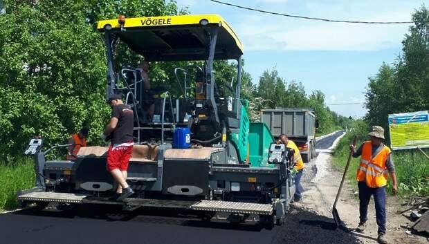 Завершается ремонт автодороги в деревне Бережки