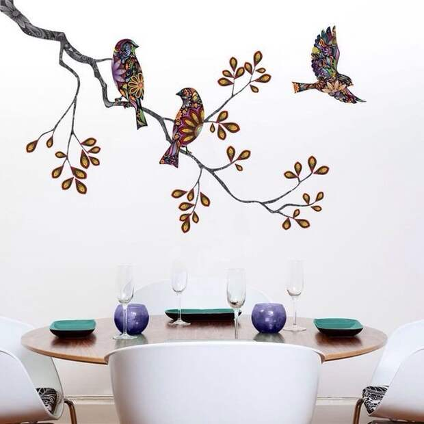 Птицы (из ткани?)