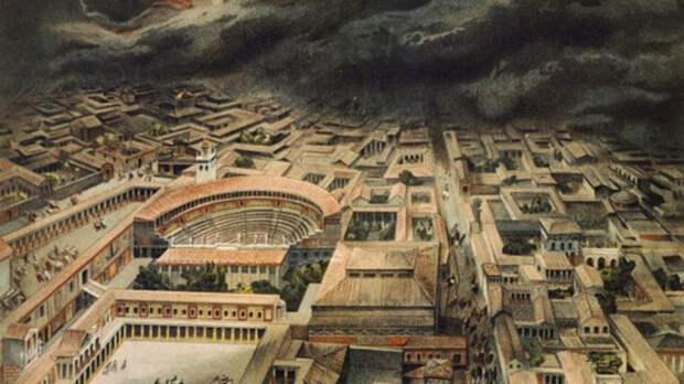 Древний римский город Помпеи.