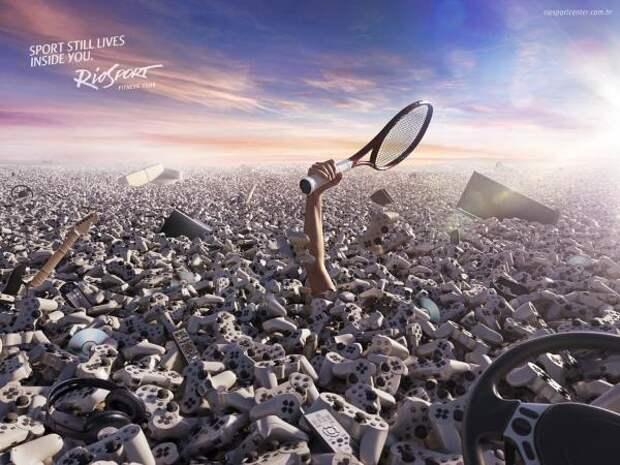 RioSport: Tennis, RioSport , Giovanni+Draftfcb, Brazil , Печатная реклама