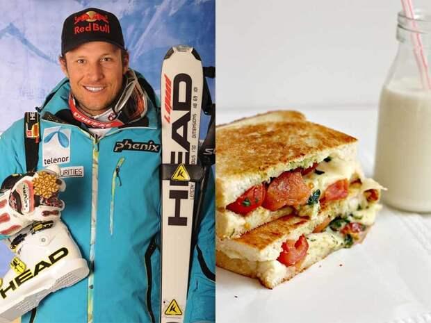 Горнолыжник Аксель Свиндал норвежец, поэтому логично предположить, что он есть много семги, которую сам и вылавливает в Атлантике. Но все не так предсказуемо — олимпийский чемпион и двукратный чемпион мира предпочитает классический большой сандвич с обилием овощей и индейки, который запивает стаканом однопроцентного молока.