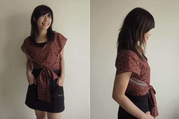 Блузка по простой ретро выкройке
