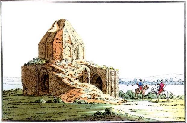 Мавзолей в Маджаре на гравюре П.С.Палласа