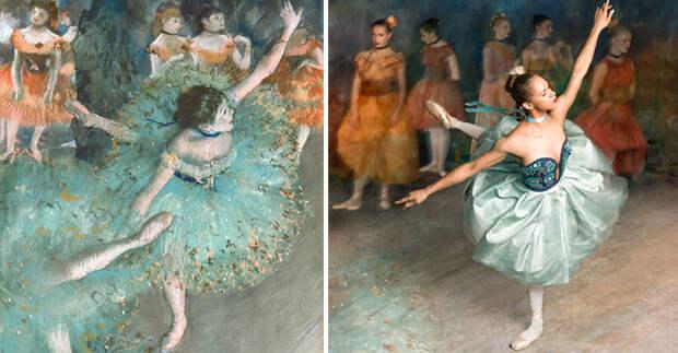 Балерина оживила картины известного импрессиониста