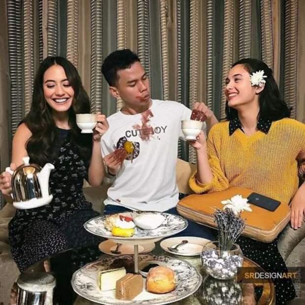 Парень из Индонезии добавляет себя на фотографии знаменитостей