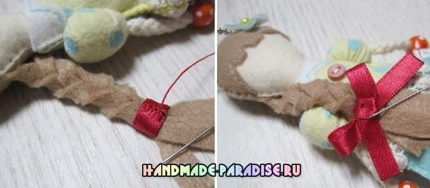 Куколка из фетра - детский кулон своими руками (9)