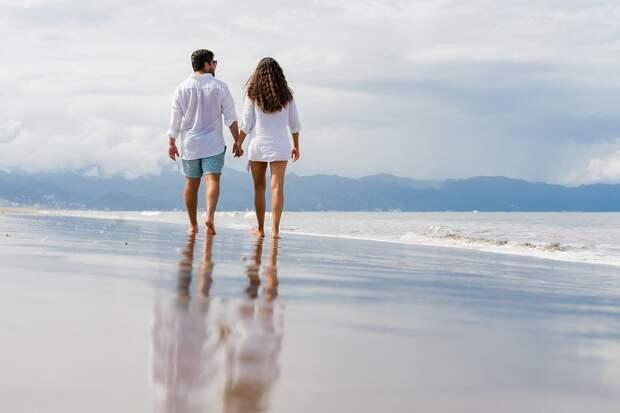 Пляж, Пара, Досуг, Прогулка, Романтический, Любовь