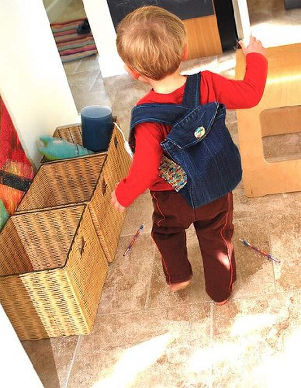 Детский рюкзак из джинсов