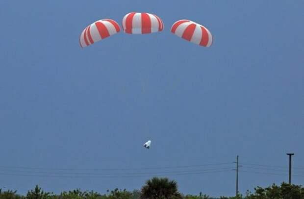 Посадка на парашютах