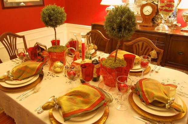 Топиарий на новогоднем столе