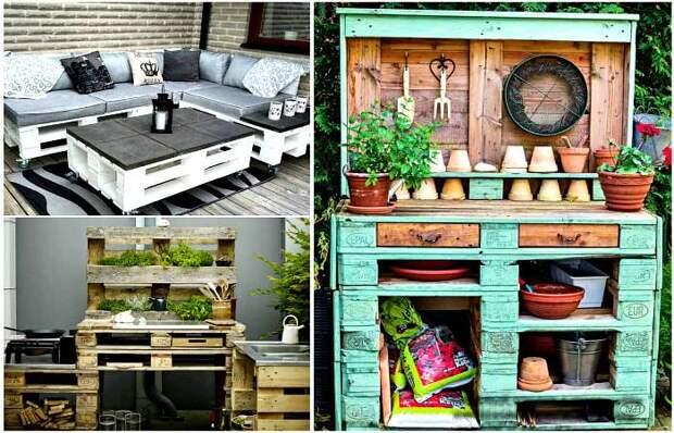 Оригинальная мебель из поддонов. \ Фото: chert-poberi.ru.