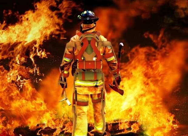 Костюм Железного человека для пожарных