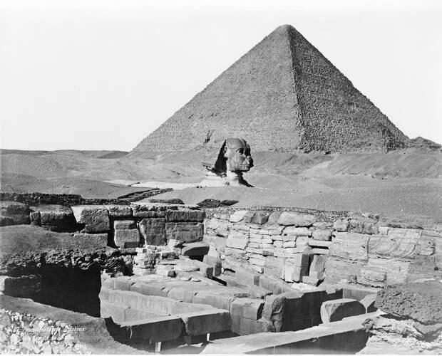 Гиза. Пирамида Хеопса, Сфинкс и Храм Хафра. 1860-1870-е