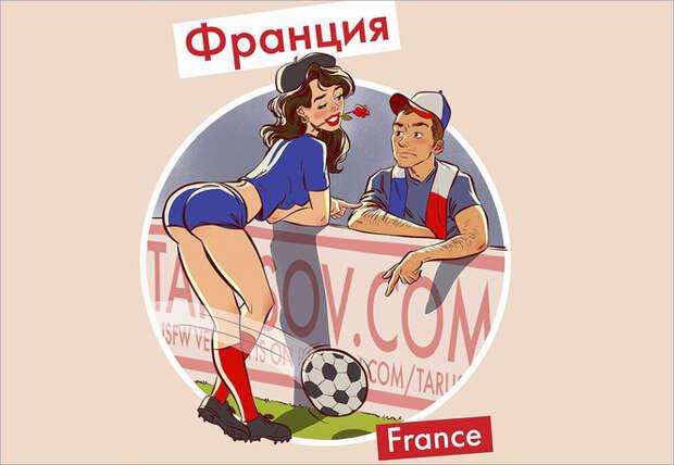 Пинап-календарь с горячими футболистками специально к ЧМ-2018 от российского иллюстратора!