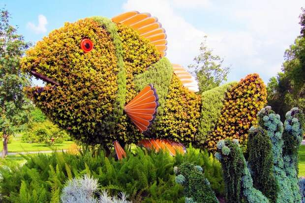 Удивительные фигурки топиари растения, топиари, фигуры