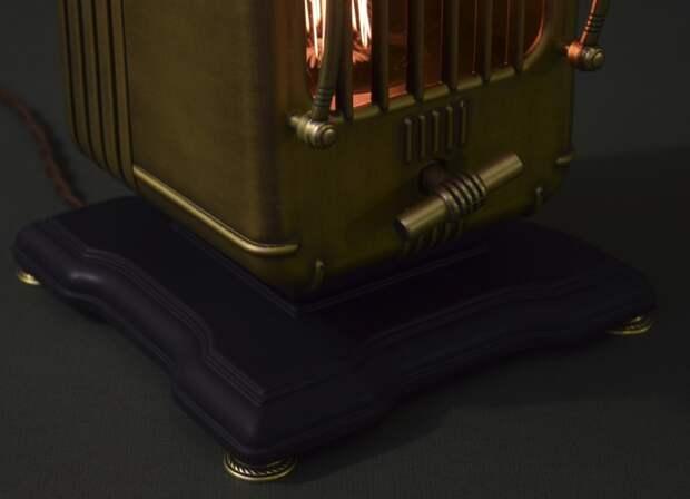Светильник из старого радио