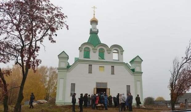 Храме Святой Троицы в селе Бураново.