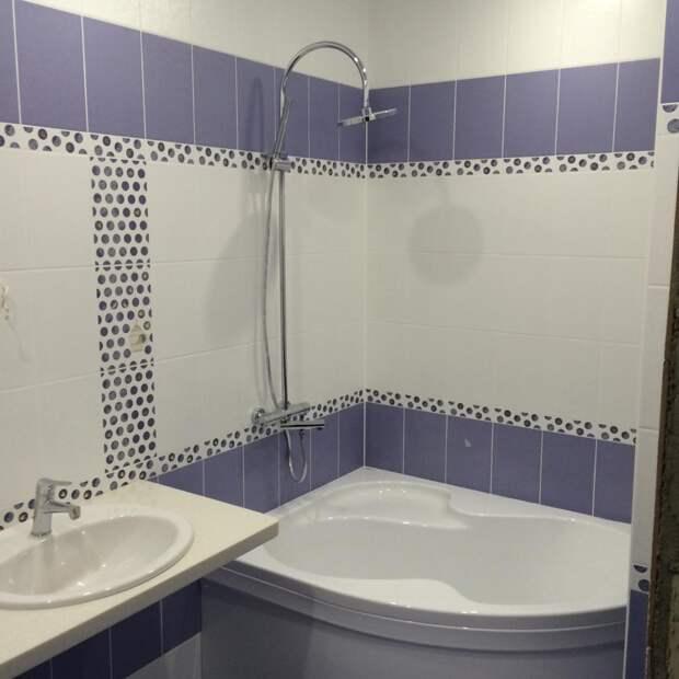 Интерьер ванной комнаты, современная ванная