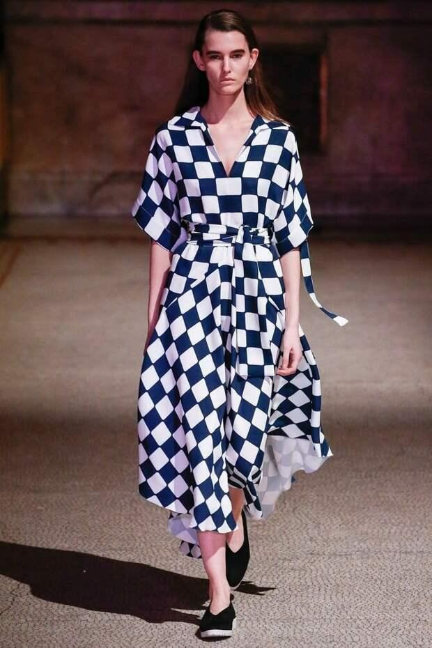 Шахматный принт снова в моде — лучшие луки
