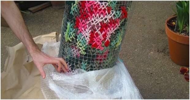 Необычный вид рукоделия преобразил Мадрид. Архитектурная вышивка