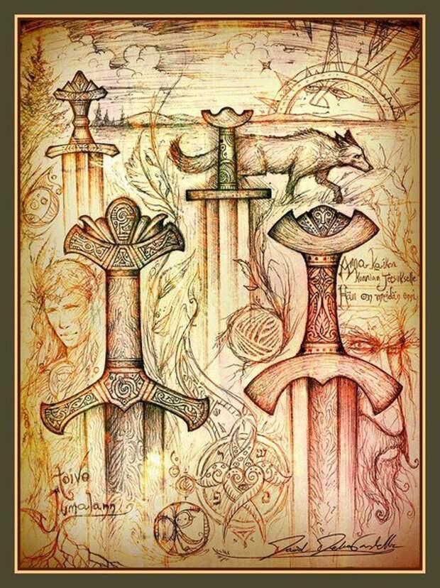 Необычные карандашные эскизы от мастеров кузнечного дела братьев Oräddbror.