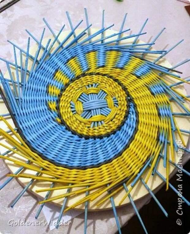 Мастер-класс Плетение Панно 40 см Спиральное плетение Бумага газетная Трубочки бумажные фото 42