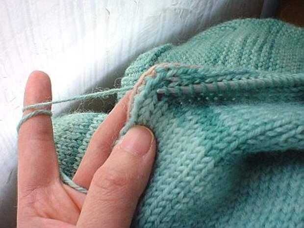 Как разрезать связаную вещь (Diy)