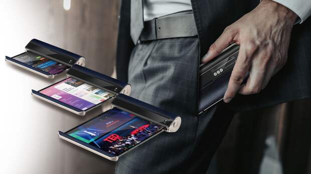 Compal представила концепт сворачивающегося смартфона-свитка