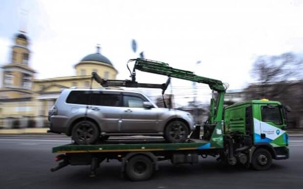 Эвакуация автомобилей, припаркованных в неположенном месте