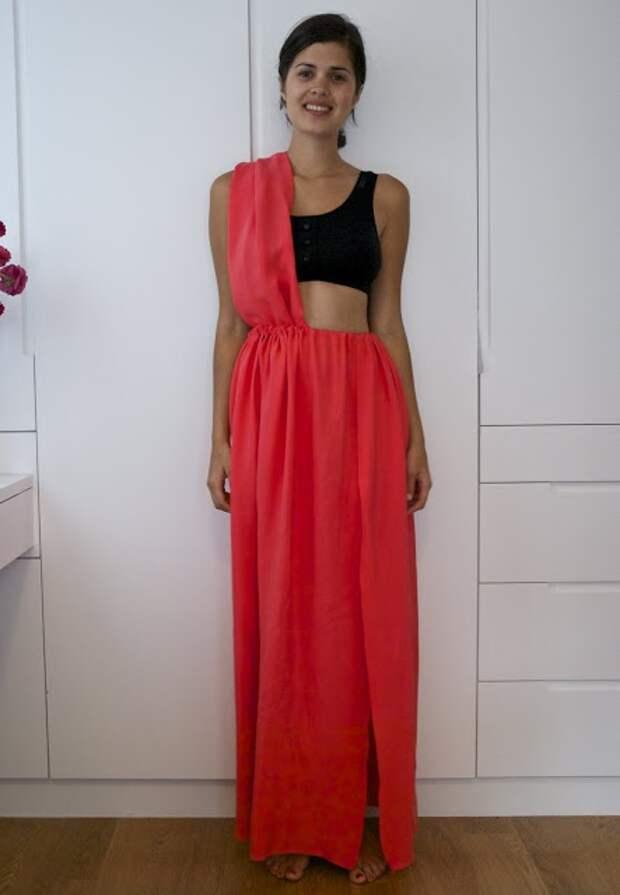 Платья из кусочка ткани (2Diy)