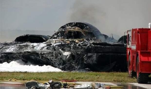 Крушение самого дорогостоящего бомбардировщика попало на видео