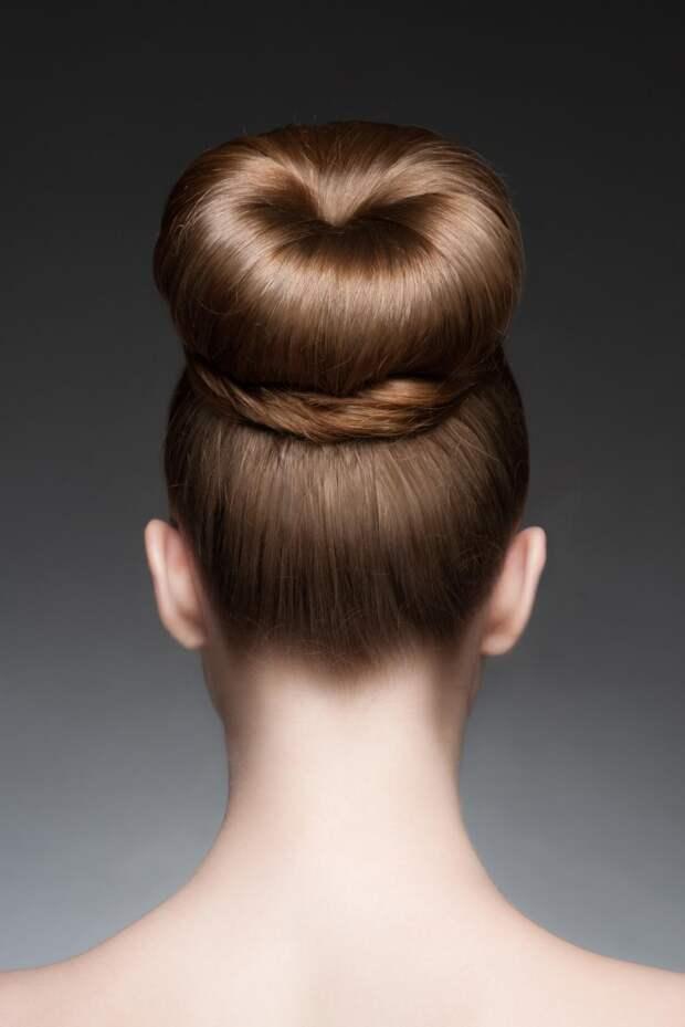бублик на короткие, средние и длинные волосы фото 1