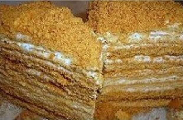 торт медовый на сковороде