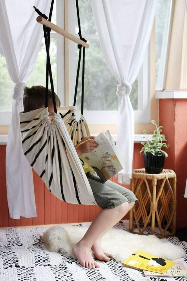 Картинка как сшить кресло-гамак своими руками