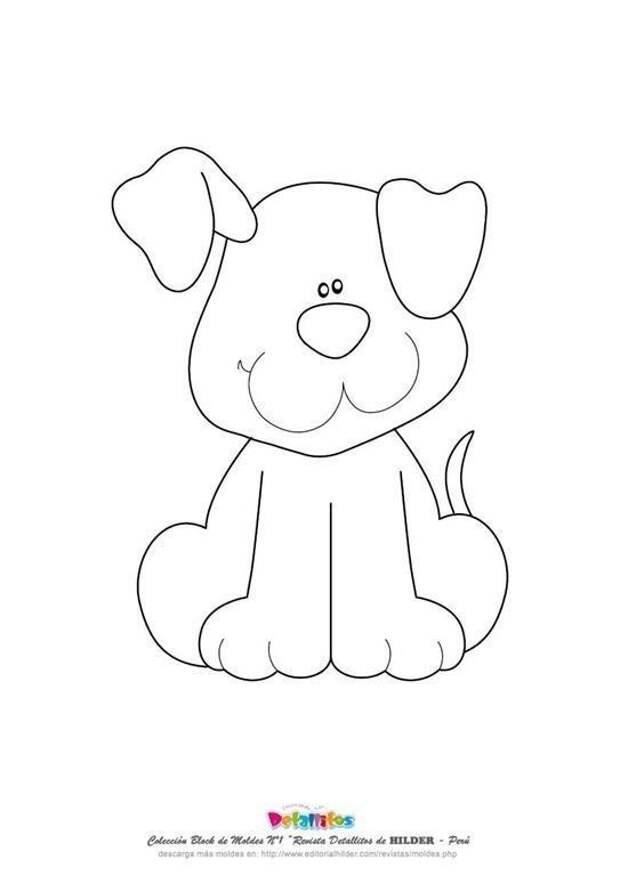 Дeкорируем детскую одежду аппликациями с собачками + шаблоны