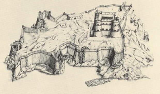 Замок Иф. Рисунок Франсуа Блонделя, 1641.