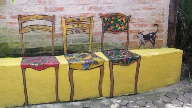 Вместо скамейки