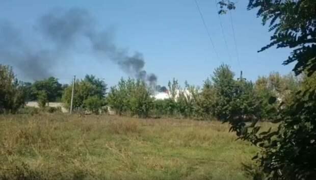 В ДНР произошел взрыв на нефтебазе в результате атаки украинского БПЛА