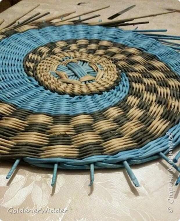 Мастер-класс Плетение Панно 40 см Спиральное плетение Бумага газетная Трубочки бумажные фото 27