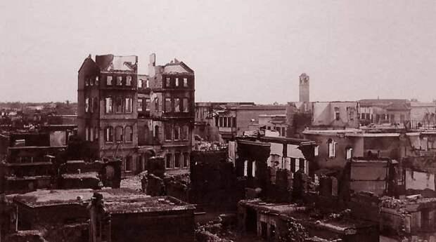 Ссожженные кварталы армян во время геноцида