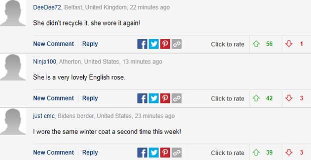 """Кейт Миддлтон восхитила британцев появлением на авиабазе в """"переработанном"""" пальто"""
