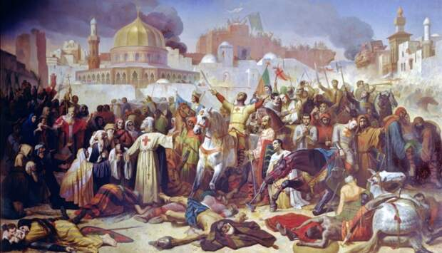Захват Иерусалима в 1099 г. Эмиль Синьол, XIX в