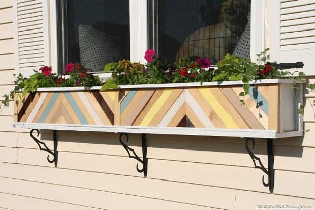 Ящики для цветов - отличное украшение для дома и сада. . Обс…