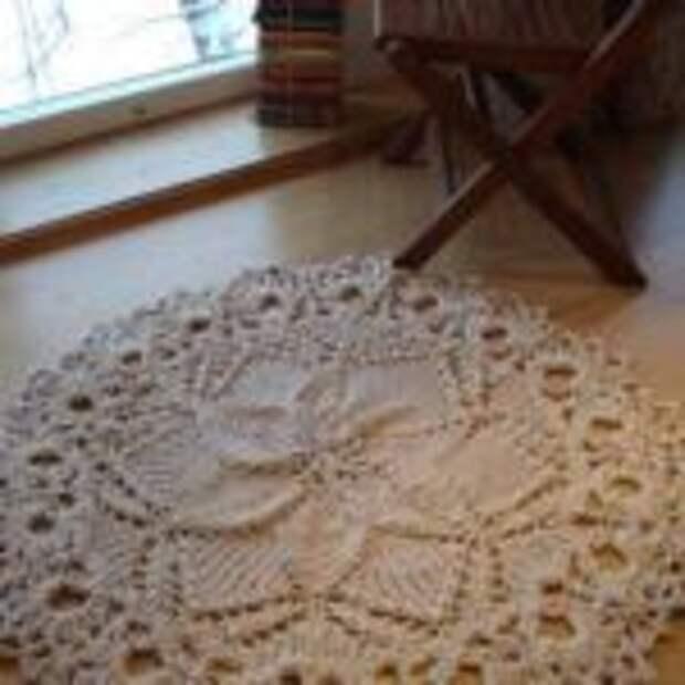 круглые вязанные коврики для дома