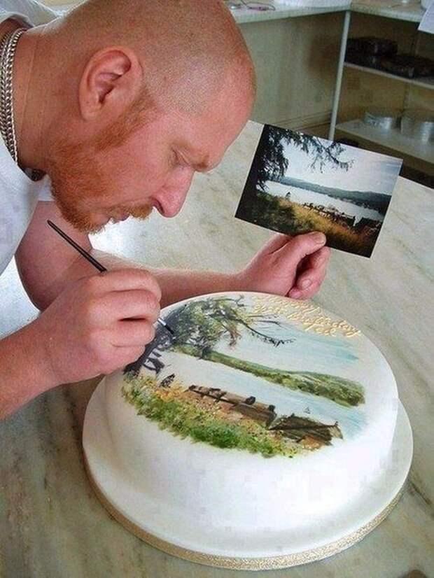 Художник - художнику еда, торт