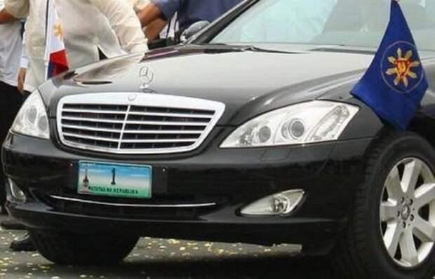 9. Mercedes-Benz W221 лимузин, правительственный автомобиль