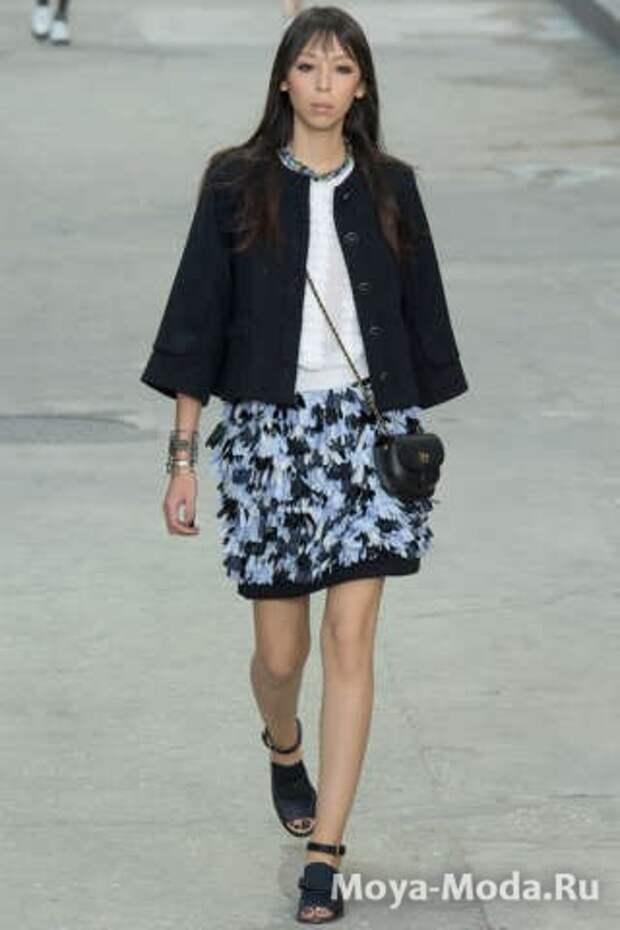 Модные юбки весна-лето 2015 Chanel