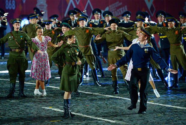 Открытие фестиваля «Спасская башня» на Красной площади