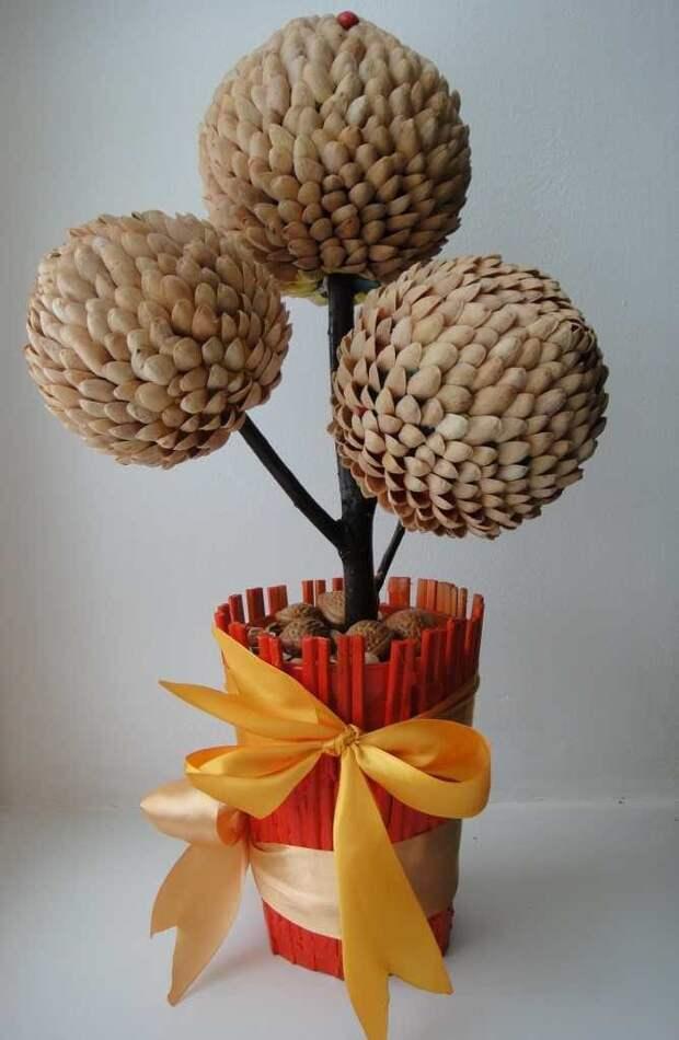 Очаровательный декор из обычной фисташковой скорлупы